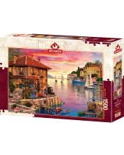 Пъзел Art Puzzle от 1500 части - Средиземноморско пристанище