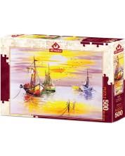 Пъзел Art Puzzle от 500 части - Вечерно слънце