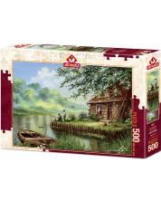 Пъзел Art Puzzle от 500 части - Вечерен риболов