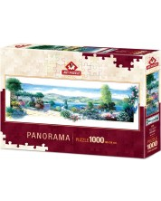 Панорамен пъзел Art Puzzle от 1000 части - Тераса с цветя