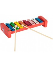Дървена музикална играчка Pino - Ксилофон Слонче, в кутия -1