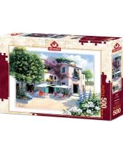 Пъзел Art Puzzle от 500 части - Кафе Вила, Питър Моц