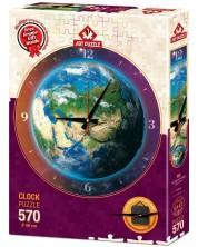 Пъзел-часовник Art Puzzle от 570 части - Времето в света