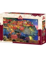 Пъзел Art Puzzle от 1500 части - Чинкуе Тере, Италия, Дейвид М.