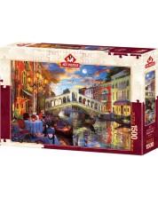 Пъзел Art Puzzle от 1500 части - Мостът Риалто, Венеция