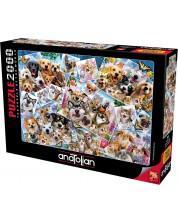 Пъзел Anatolian от 2000 части - Колаж от селфита на животни