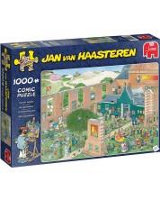 Пъзел Jumbo от 1000 части - Арт пазар, Ян ван Хаастерен