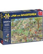 Пъзел Jumbo от 1000 части - Крос с велосипеди, Ян ван Хаастерен -1