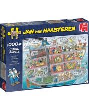 Пъзел Jumbo от 1000 части - Круизен кораб, Ян ван Хаастерен