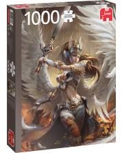 Пъзел Jumbo от 1000 части - Ангел воин