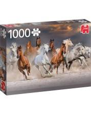 Пъзел Jumbo от 1000 части - Коне сред пустинята -1