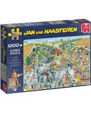 Пъзел Jumbo от 1000 части - Винарната, Ян ван Хаастерен -1