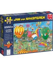 Пъзел Jumbo от 1000 части - Състезание с балони, Ян ван Хаастерен