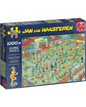 Пъзел Jumbo от 1000 части - Женски футбол, Ян ван Хаастерен -1