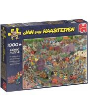 Пъзел Jumbo от 1000 части - Парадът на цветята, Ян ван Хаастерен -1
