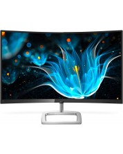 "Монитор Philips - 328E9QJAB, 31.5"" Curved, черен -1"