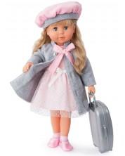 Пееща и говореща кукла Bayer - Мария, 46 cm, с куфарче и сиво палто