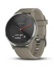 Смарт часовник Garmin - Vívomove HR, черен, sandstone силиконова каишка -1