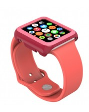 Калъф Speck - CandyShell Fit, за Apple watch 42 mm, crimson red/splash pink -1