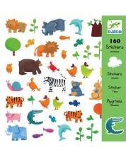 Стикери Djeco - Животни, 160 броя -1
