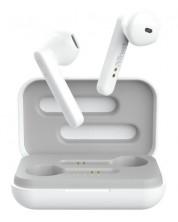 Безжични слушалки Trust - Primo Touch, TWS, бели -1
