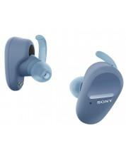 Безжични слушалки Sony - WF-SP800N, сини -1