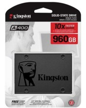 SSD памет Kingston - A400, 960GB -1