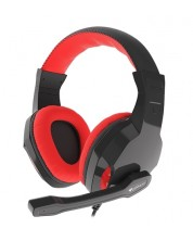 Гейминг слушалки Genesis - Argon 100 Red, черни
