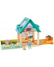 Игрален комплект Hape - Ветеринарен център, с кукла -1