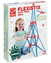 Конструктор от бамбукови пръчки Hape Flexistix - Айфеловата кула