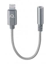 Преходник Aux Audio 3.5мм към Lightning - сребрист -1