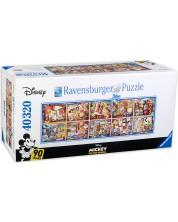 Панорамен пъзел Ravensburger от 40 320 части - Магията на Мини Маус