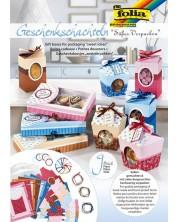 Творчески комплект за изработка на кутийки за подаръци и съхранение Folia - 40 части