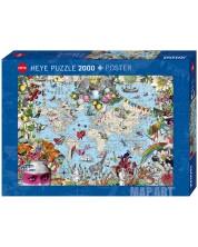 Пъзел Heye от 2000 части - Причудлив свят -1