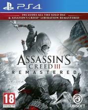 Assassin's Creed III Remastered + All Solo DLC & Assassin's Creed Liberation (PS4) -1