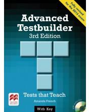 Advanced Testbuilder + audio CD and key (3-rd edition) / Английски за сертификат - ниво C1 (Помагало с отговори и CD) -1