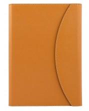 Тефтер в кожена папка Alicante A5 - Оранжев