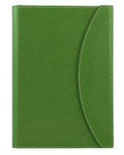 Тефтер в кожена папка Alicante A5 - Тъмно зелен