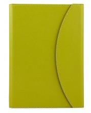 Тефтер в кожена папка Alicante A5 - Светло зелен