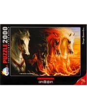 Пъзел Anatolian от 2000 части - Четирите коня на Апокалипсиса, Шарлен Линдског-Осорио