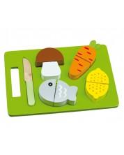 Дървен комплект за рязане Andreu Toys - Обяд