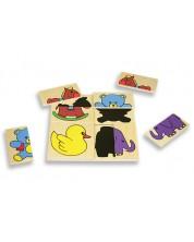 Дървен пъзел Andreu toys – Забавни сенки