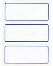 Ученически етикети APLI - Бели със синя рамка -1
