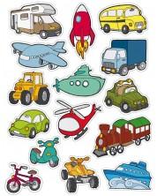 Комплект стикери Apli - Транспорт, 54 броя