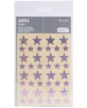 Комплект стикери APLI - Звездички, розов звезден прах, 3 листа -1