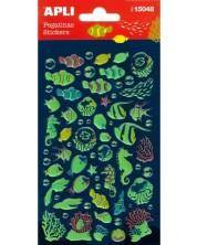 Самозалепващи стикери Apli - Морско дъно, светещи
