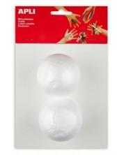 Творчески комплект Apli - Топки, 70 mm, от стирофом, 2 броя