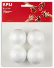 Творчески комплект Apli - Топки, 50 mm, от стирофом, 4 броя