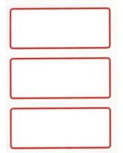 Ученически етикети APLI - Бели с червена рамка -1