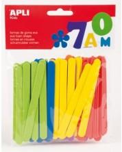 Плоски цветни пръчици Apli от EVA пяна